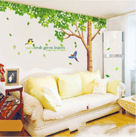 Wholesale living lines resale online - Plant Tree Wall Stickers Lined Decals Nursery PVC Non Toxic Sticker Home Wide Range Of Uses Decor Murals Hot ks J R