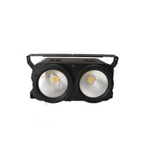 Wholesale auto dimming - High Brightness IP20 COB led STAGE LIGHT 2 Eyes Cold white + Warm white  2x100W white&warm white 2 in 1 Stage Led Audience led blinder Light