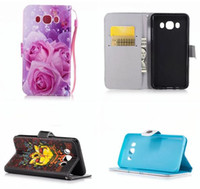 Wholesale Cartoon Casing Galaxy Grand - Halloween Skull Leather Wallet Pouch For Samsung Galaxy A510 J510 Grand Rrime G530 A5 2016 J5 Cartoon Don't Touch My Phone Stand Card Cover