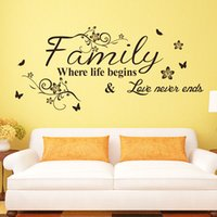 Wholesale Decorative Wall Vinyl - Wall Stickers Words Quotes Creative Style Wall Sayings Decorative Bedroom Wall Stickers Vinyl Removable Home Decoration