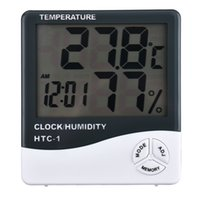 Wholesale High Accuracy Large character LCD Display Digital Thermometer Hygrometer Indoor Electronic Room Temperature Controller Humidity Meter Clock
