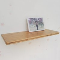 Wholesale Book Storage Rack - Space Saving Kitchen Storage Wall Shelf Floating Wall Mounted Shelf Bamboo Photo Book Display Rack Holder Storage Ledge JC0536