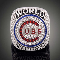 Wholesale Collection Tins - New arrival Hot sale Men fashion sports collection jewelry 2016 Chicago Cubs championship ring fans souvenir gift