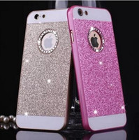 Wholesale Pink I5 - luxury Rhinestone case for apple iphone 5s glitter pink PC cover mobile phone accessories by noble quality original i5 5 se i