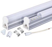 3w globo colorido rgb led venda por atacado-Tubo LED integrado T5 1200mm 18 W 4ft LED tubo de iluminação AC110-240V 96leds 2200LM, Fedex Frete grátis, 10 pçs / lote
