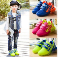 Wholesale Fashion Dress Up Kids - Kids Shoes With Light New Spring Net Breathable Boys Fashion Sneakers Chaussure Led Enfant Sport Running Girls Shoes