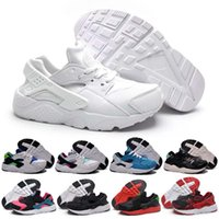 Kids Air Huarache Sports Shoes Imprimir Rubber Patent Leather Respirável Athletic Round Toe Popular Basketball Shoes