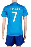 Wholesale Mens Sports Wear Wholesale - 17-18 Customized 7 RONALDO Soccer Jersey Wear set,Cheap 22 ISCO 20 ASENSIO Soccer Shirts With Shorts,Fashion mens Sports 11 BALE Soccer Sets