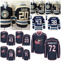 Wholesale Scott Red - Cheap Columbus Blue Jackets Hockey Jerseys 71 Nick Foligno 20 Brandon Saad 72 Sergei Bobrovsky 43 Scott Hartnell 38 Boone Jenner Ice Jersey