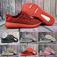 Wholesale pirate ship fabric - 2017 Cheap Wholesale Discount Kanye West Boost 350 2018 Moonrock Kanye Shoes Pirate Black 350 Boost Turtle Dove Grey Free Shipping With Box
