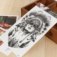 Wholesale Exotic Body Stickers - Wholesale-Ancient women keep the tears Size 22 x 12cm Body Art tatoo Temporary Tattoo Exotic Sexy Henna Tattoo Tattoo Stickers 2016 New