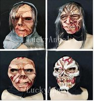 Wholesale House Fancy Dress - Wholesale 2017 Halloween Ghost Mask Evil Clown Horror Mask Funny Fancy Dress Full Face Demon Mask Halloween Cosplay Haunted House Party Prop