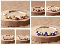 ingrosso braccialetto di ceramica-Brand new Pink Miao nuovo bracciale in ceramica handmade art bracelet couple jewelry FB496 mix ordine 20 pezzi molto Slap Snap Bracelets
