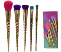 Wholesale High Bb - 2017 Newest Tarte Brush 5pcs sets makeup brushes tools With Gold Make Up brush Same Mermaid BB Cream high quality With DHL Free Shipping