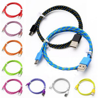 Wholesale Usb Black Light - Braid Type C Cable Charging Cord USB Cable Sync Data Charging Charger Cable For Android Smart Phonoe Without Package