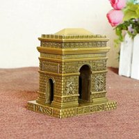 Wholesale Triumph Models - 9cm Height Metal Craft France Paris Famous Landmark Arch of Triumph Model
