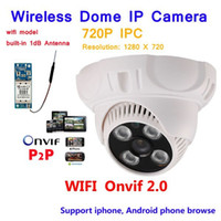 Wholesale High Resolution Ir Dome Camera - New arrival High resolution! 1.0Megapixel Wifi Camera support 720P IR Night vision Indoor Dome P2P Motion detect Network Wireless IP Camera