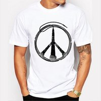Wholesale Personalized Microphones - 2017 New Arrivals Personalized microphone peace sign Men's T Shirt Cool Tops Hipster Style Casual T-shirt