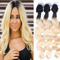 Resika Ombre Brazilian Virgin T1b / 613 Blonde Colorido 100% Cabelo Humano Weave Weft 3pcs / lot Unprocessed Human Wholesale Hair Bundles