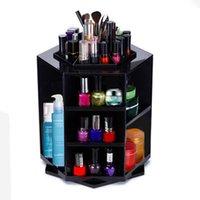 stand de plástico de maquiagem venda por atacado-Titulares De Armazenamento De Desktop de moda de 360 Graus de Rotação de Plástico Racks Cosméticos Multi Função À Prova D 'Água Maquiagem Suporte Prático Não Tóxico 45yw B