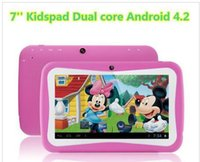 Wholesale Cover For Quad - Christmas gift for kids !! 7 inch Kids Education Tablets RK3126 Quad core Android 4.4 Bluetooth 512MB+8GB Kids Games & Apps mini tablet pc