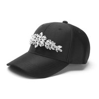 Wholesale Diamond Snapback For Girls - Wholesale- Women's Summer Baseball Caps with Crystal Diamond Luxury Caps for Lady Fashion Snapback Hats Youth Girls Street Caps Casqutte