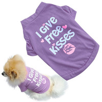 Wholesale Product Clothing Colors - 2 colors hot! Pet Dog Clothes Cotton letter Shirt Small Dog Coat dog costume for pet products XS-L love home free shipping