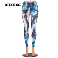 Wholesale Galaxy Girls Pant - New B3034 Sexy Girl Slim Sport Yoga Pants Tie-dyed Star sky Dream Galaxy Purple Prints Stretch Jogging Workout Fitness Women Leggings