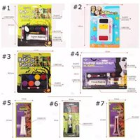 Wholesale Oil Paint Toxic - Halloween Tattoo Face Body Paint Oil Painting Art Non-toxic Water Paint Horror Party Makeup Vampire Zombie Makeup Palette CCA7354 200pcs