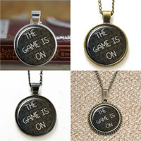 Wholesale games necklaces resale online - 10pcs Sherlock BBC inspired The game is on Glass Photo Necklace keyring bookmark cufflink earring bracelet