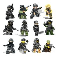 Wholesale Cool Air Force - Army Buliding block Build Brick Block 12 Types Choice soldier Brave Super Heros air force airman navy Cool interesting DHL free shipping