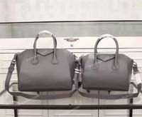Wholesale Vintage Interior Design - Top Quality Smooth Calfskin Leather Tote Women's Genuine Leather Antigonas Handbags w Strap Shoulder Bags Classic Design Fashion Hnadbags