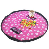 Discount outdoor play mats - 9 Style Kids Storage Toy Bags Dolls Organizer Diameter 1.5m Baby Portable Play Mat Toys Waterproof Bags Messes Clean Up Outdoor Cushion