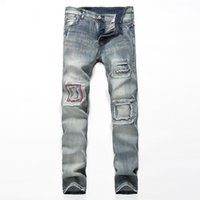 28-38 Big Size Jeans Männer Casual Ripped Jean Pants Erwachsene Blau Retro Straight Male Hose Classic Club Denim Jeans