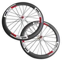Wholesale Mountain Bike Disc - Free Shipping Thru Axle 6 Bolt Disc brake carbon road bike wheels 700C 50mm Clincher Tubuar cyclocross wheelset 23mm 25mm Width