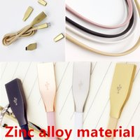 Wholesale Metal Connectors - Micro USB Cables 1M 3ft 2.1A Fast Charger Zinc Alloy Metal Connector USB 2.0 Sync Data Cable for Android And Phone