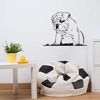 Wholesale Bulldog Vinyl - Hot Sale Languid Dog Vinyl Wall Sticker Bulldog Puppy Wall Decal New Design Home Decor Art Mural Creative Diy