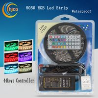 Wholesale 12v waterproof color changing remote resale online - 300 LED strip feet long with RGB color changing and channel remote change colors Waterproof with chips