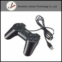 Negro USB 2.0 Wired Multimedia Gamepad Joystick Joypad Game Controller para PC Ordenador portátil para XP / para Vista Game Pad