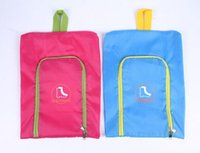 Wholesale travel laundry bags - Waterproof Travel Outdoor Folding Home Tote Toiletries Laundry Nylon Shoe Pouch Storage Bag