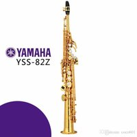 Wholesale Play Grade - Soprano Saxophone YSS-82Z B flat playing professionally one straight Top Musical Instruments Free shipping professional grade