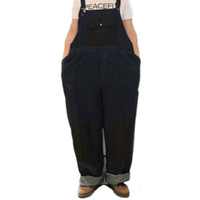Wholesale Loose Fit Jumpsuit - Wholesale-Hip Hop Funny Denim Overalls Baggy Loose Fit Plus Size Performance Street Dance Workout Jumpsuit For Men Big and Tall