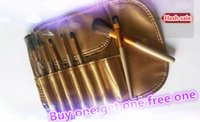 Wholesale One Makeup Kit - Buy one get one free!!!2016 7pcs   set of makeup brushes bronze hot