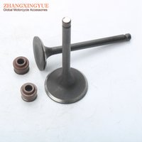 Wholesale Gy6 Engine Cdi - 2PCS   STE intake & Exhaust Valve Set + Valve seal for GY6 150cc157QMJ engine