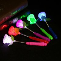 Wholesale Small Light Up Toys - Star Love Heart Star Flashing LED Glow Light Sticks Kids Baby Light Up Toy Party Favor Halloween Gift Small Size