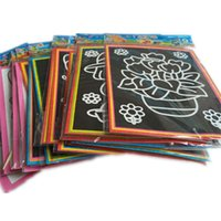 Wholesale Magic Color Scratch Paper - 10pcs lot 17*13cm Two-in-one Magic Color Scratch Art Paper Coloring Cards Scraping Drawing Toys for Children