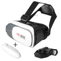 Wholesale Glasses Virtual Games - VR Box Virtual Reality Glasses 3D Glasses And Bluetooth Gamepad Play 3D Games For Android Mobile Phone For Iphone With Retail Package
