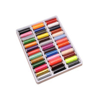Wholesale Wholesale Yard Tools - 39 Mixed Colors Pure Polyester Sewing Thread Machine Hand 200 Yard Each Spool DIY Kit For Hand or Machine Sewing Tool ZA3113