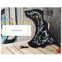 Wholesale Electric Guitar Stickers - R68mm Flower Pattern Electric Acoustic Folk Classical Guitar Pickguard Stickers On The Guitar