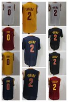 Wholesale Away Fashion - Cheap 2016 Mens 2 Kyrie Irving Jerseys Rev 30 New Material 0 Kevin Love Shirt Uniform Fashion Trowback Home Away Alternate Jerseys